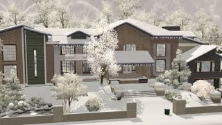 The Sims 3 - House Building - Quadri  - Christmas House