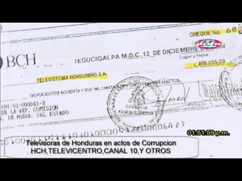 Corrupcion en las cadenas de Television en Honduras