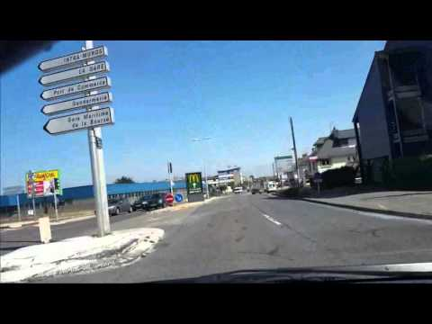 Driving out of St Malo France  Summer 2015