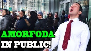 """BAD BUNNY - """"Amorfoda"""" - SINGING IN PUBLIC!!"""