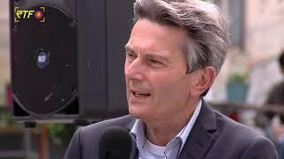 SPD-Chef Rolf Mützenich und Martin Rosemann im Dialog mit Bürgern