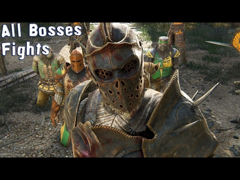 For Honor - All Bosses Fights (HD) [1080p60FPS]