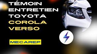 Comment éteindre Le Voyant De Vidange Sur Toyota Corola Verso 2.2 D4d
