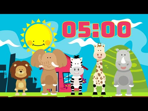 5 Minute KIDS TIMER ?Dancing Animals Happy ?Background Music