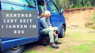 Rentner Peter lebt mit Hündin Hilde im VW Bus