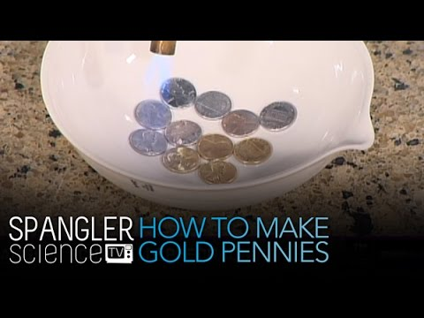 How to Make Gold Pennies - Cool Science Experiment