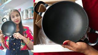 Hawkins Futura nonstick kadai deep fry pan review-kanpur kitchen