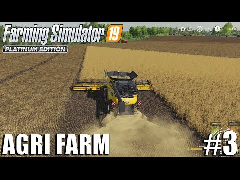 Agri Farm   Harvesting Wheat   Timelapse #3   FS19   Farming Simulator 19