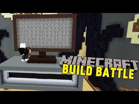 VÄRLDENS STÖRSTA LED-TV | Minecraft | Build Battle på Hypixel