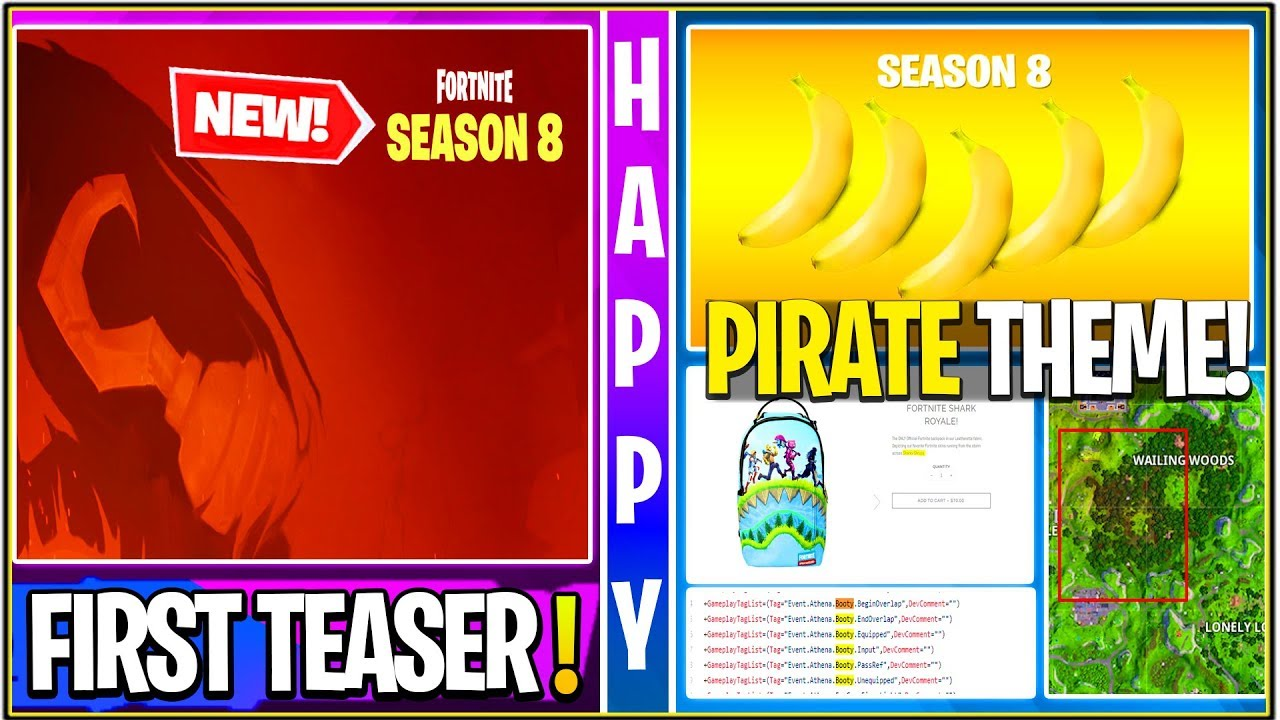 New Fortnite First Season 8 Official Teaser Pirate Theme Poi