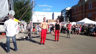 the fringe in Edmonton 2013, the red trouser show.  2 of 5