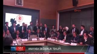 TC ANAYASA DEĞİŞİKLİK TEKLİFİ 9 GÜNÜN ARDINDAN KOMİSYON'DAN GEÇTİ