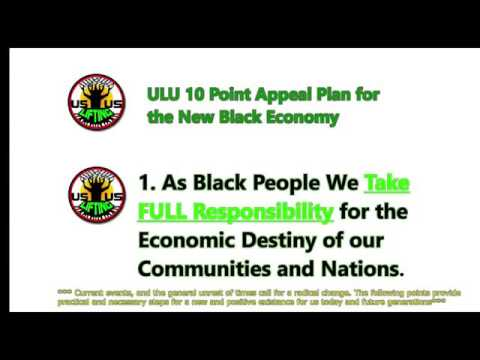 Part 1 ULU 10 Point Appeal Plan for the New Black Economy
