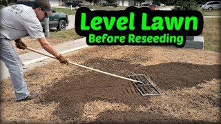 Leveling the Lawn Before Reseeding Part 1