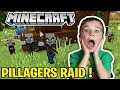 PILLAGERS RAIDING OUR VILLAGE NON STOP in MINECRAFT SURVIVAL 1.14