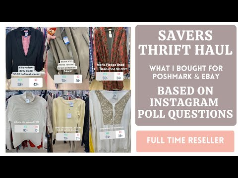 SAVERS THRIFT HAUL! What I Bought Based On INSTAGRAM POLL QUESTIONS,  To Sell on Poshmark & Ebay!