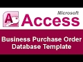 Microsoft Access Basic Business Purchase Order Database Template