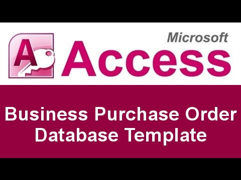 Microsoft Access Basic Business Purchase Order Database Template  Microsoft Purchase Order Template