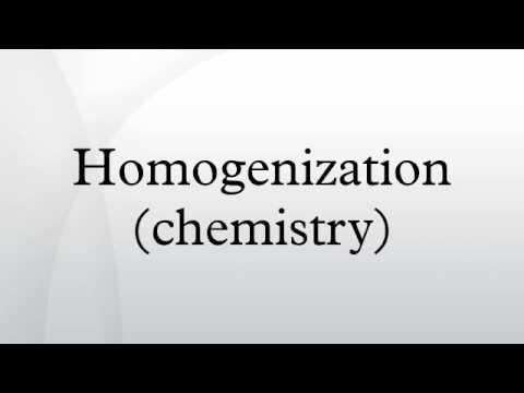 Homogenization (chemistry)