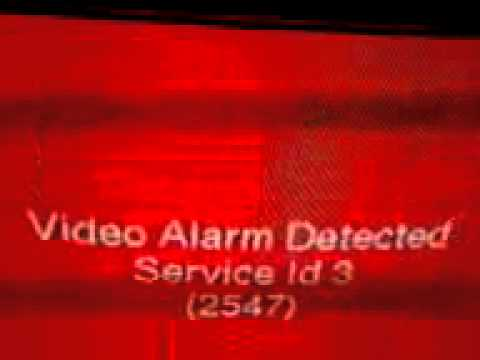 "Creepy television message ""Video Alarm Detected"""