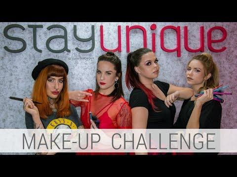 MAKE-UP CHALLENGE in Stayunique    4 Makeup Artist x GLAM líčenie 4x inak