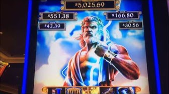 ZEUS UNLEASHED ~ First Spin Ever!!  BONUS!!  Huge Win!!  ~ Live Slot Play @ San Manuel