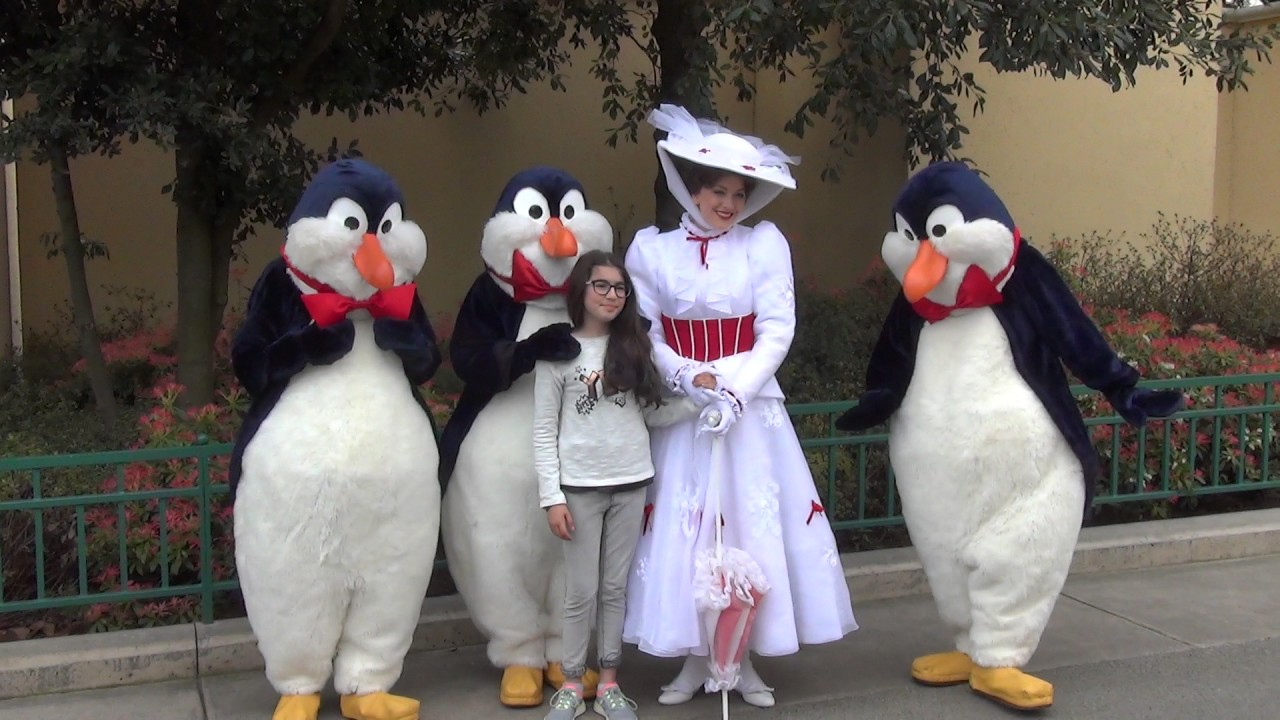 Pingouin Mary Poppins Meet And Greet Mary Poppins & Penguins Hd Walt Disney