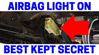 Airbag Light On Continuously - Easy Fix!