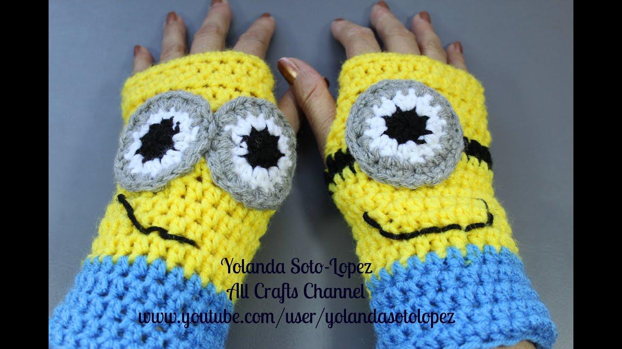 Como tejer Guantes #Crochet - inspirados por Despicable Me - Minions ...