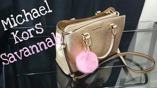 michael kors savannah medium satchel   bag review
