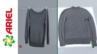 Comment sécher vos vêtements en laine - Ariel