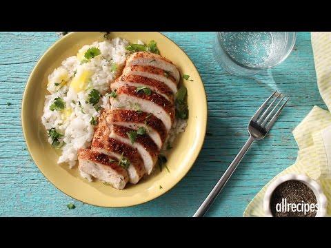 How to Make Caribbean Chicken with Pineapple Cilantro Rice | Chicken Recipes | Allrecipes.com