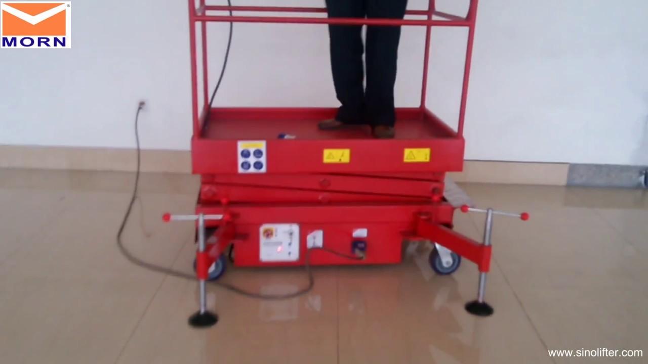 How To Operate Electric Mini Scissor Lift From Morn U00ae Lift