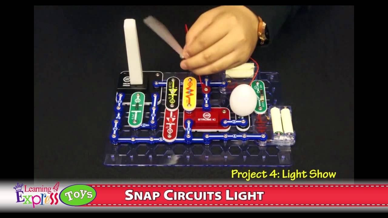 snap circuits light set youtube rh youtube com Electronic Snap Circuits 300 Kit Snap Circuits Extreme SC 750