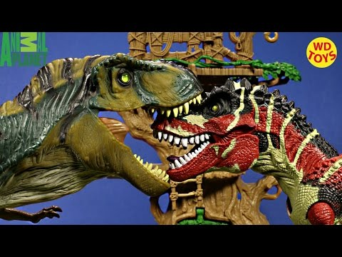 New Animal Planet Extreme T-Rex Adventure Vs Bull T-Rex Jurassic Park Unboxing - WD Toys