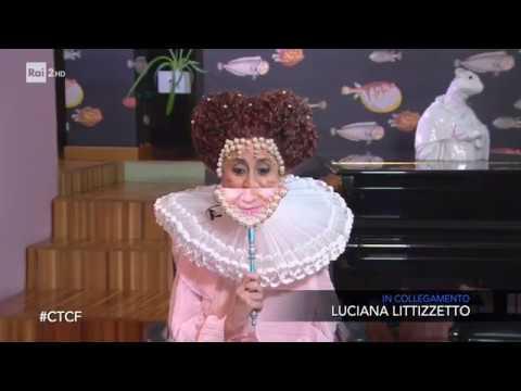 Luciana vestita da Achille Lauro accoglie Elettra Lamborghini - Che tempo che fa 23/02/2020