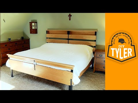 Build a Wood/Metal King Bed Frame | How to Make