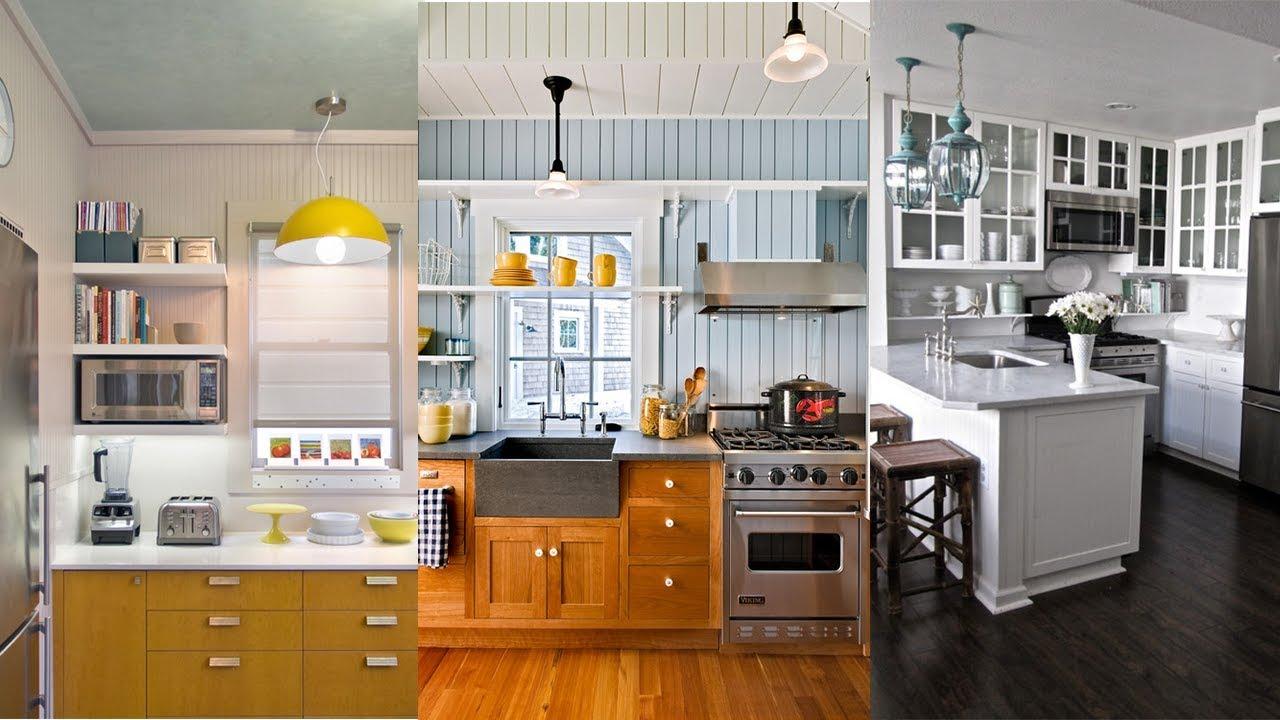 10 Ways To Make A Small Kitchen Feel Bigger Small Kitchen Organization Youtube