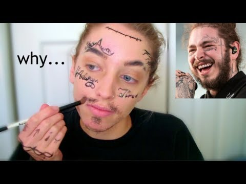 I turned myself into Post Malone... and gagged