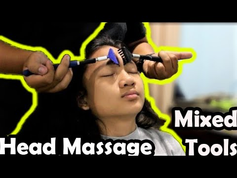ASMR Relaxing Mixed Tools Head and Back Massage thumbnail
