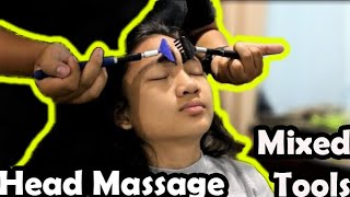 ASMR Relaxing Mixed Tools Head and Back Massage