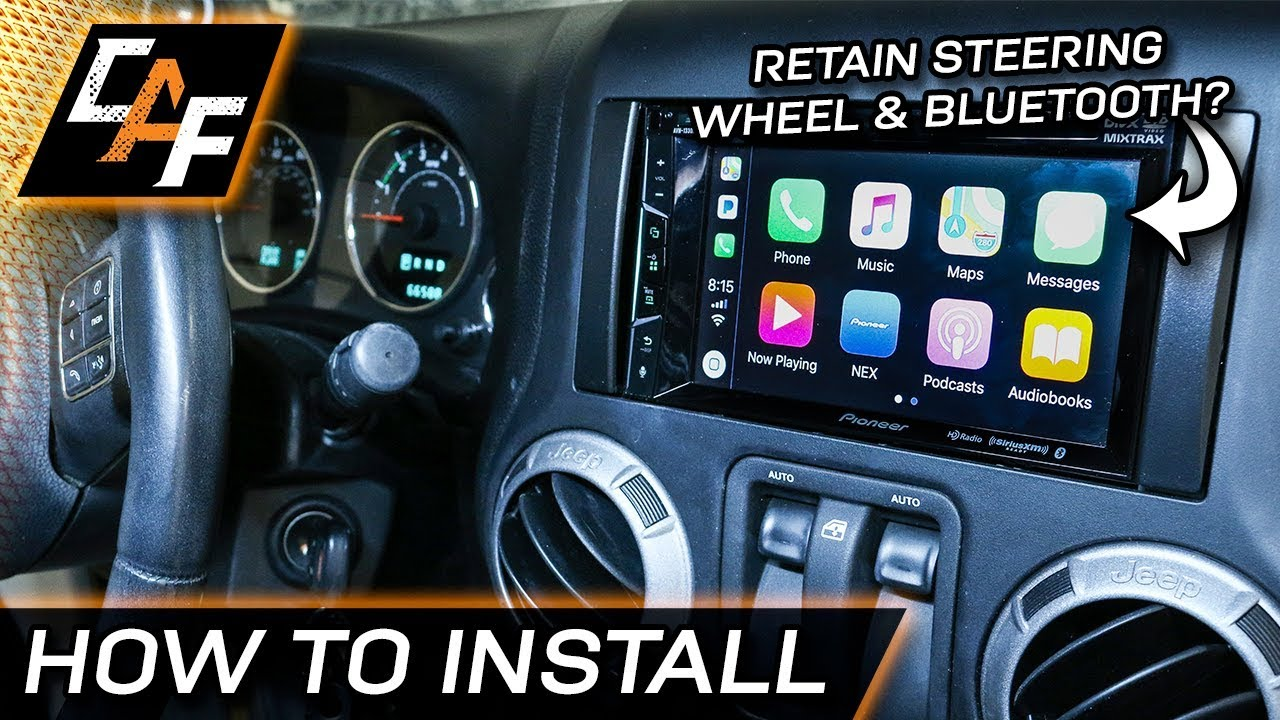 how to install aftermarket radio jeep wrangler 2011 2017. Black Bedroom Furniture Sets. Home Design Ideas