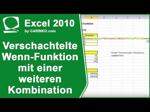 Excel 2010 verschachtelte WENN-Funktion mit einer weiteren Kombination - carinko.com