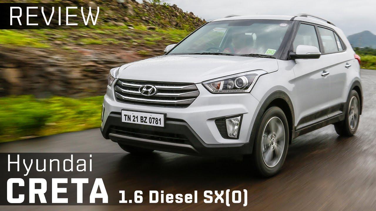 Hyundai Creta Sx O 1 6 Diesel Review Video Zigwheels Youtube