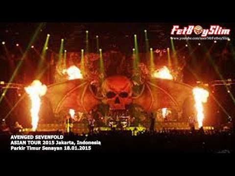 A7X AVENGED SEVENFOLD - THIS MEANS WAR live in Jakarta, Indonesia 2015