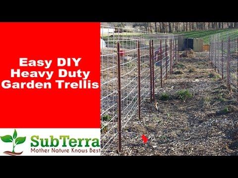 Delicieux Easy DIY Heavy Duty Garden Trellis   YouTube