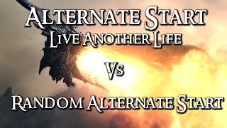 Skyrim Mod Comparison - Alternate Start: Live Another Life Vs. Random Alternate Start