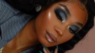Crimp Waves + Grey Smoky Makeup Look | Celie Hair | MakeupTiffanyJ