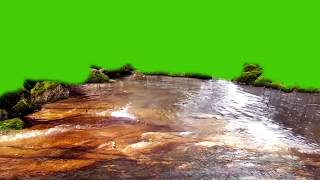 Water Stream of Nature HD Green Screen Free