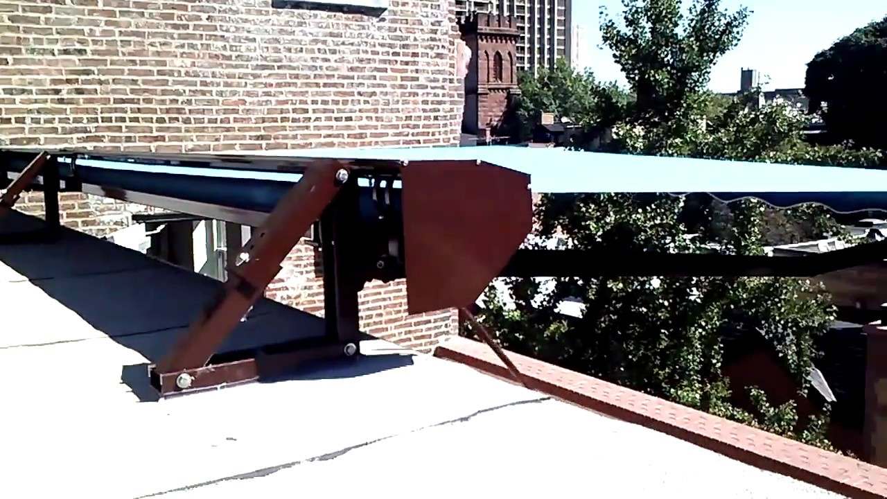 Roof Mounted Retractable Awning Installation in Manhattan ...
